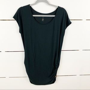 LUCY Ruched Short Sleeve T-Shirt Tunic